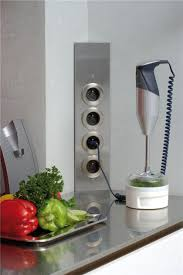 prise de courant cuisine prise de cuisine bloc esquina 2 prises électriques et