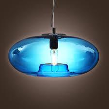turquoise blue glass pendant lights l lightinthebox vintage glass pendant light in blue bubble