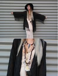 stardust bohemian mavy savvy embriodered fringe kimono jacket