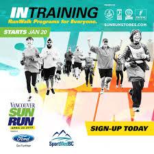 sun run 2018 vancouver sun run intraining program sportmedbc