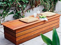 innovative outdoor wooden bench with storage hardwood for amazing