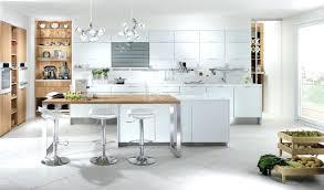 cuisine bois et inox cuisine blanche et bois priton