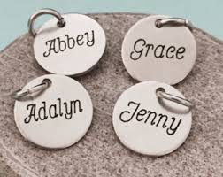 name charms custom name charms etsy