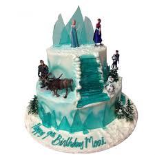 frozen birthday cake 2 layer fondant cake images