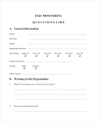 6 employee questionnaire examples samples