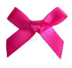 satin ribbon bows cerise shocking pink satin ribbon bows 3mm 7mm or 15mm ebay