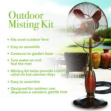 amazon com misting kit attachable misting kit for outdoor fans