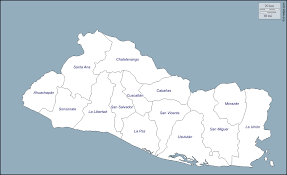 El Salvador On World Map by El Salvador Free Map Free Blank Map Free Outline Map Free Base