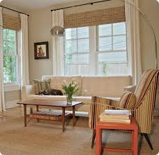 White Bamboo Curtains White Curtains And Bamboo Shades Light Floors Light Walls