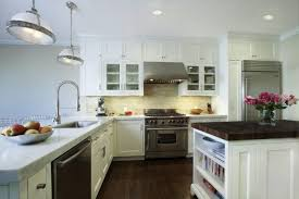 kitchen backsplash ideas with white cabinets charming u shape
