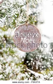 wooden tag french words u0027joyeux noel u0027 merry christmas