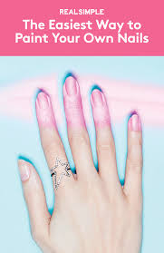 the fastest easiest way to paint your own nails diy manicure