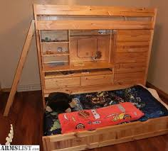 Bunk Bed With Desk And Dresser Armslist For Sale Quality Pine Bunk Bed W Desk And Dresser