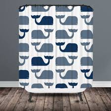 Navy And Coral Shower Curtain Shower Curtain