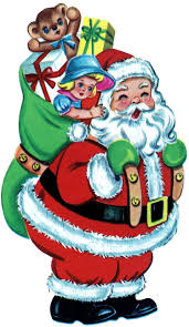 free christmas picture retro santa with toys the graphics fairy
