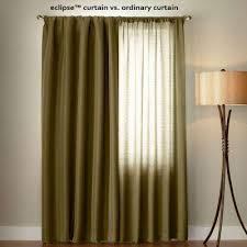 Green And Brown Curtains Green Rod Pocket Curtains Drapes Window Treatments The