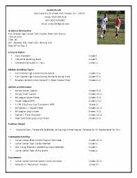 soccer recruiting resume google search tillie pinterest