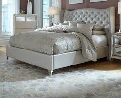 Aico Bedroom Furniture by Aico Hollywood Loft Frost Upholstered Platform Bed 9001600ckbed