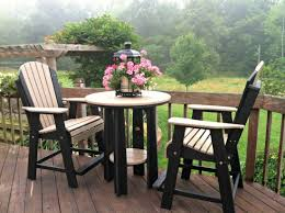 Outdoor Balcony Set by Luxcraft Poly Balcony Table Set Swingsets Luxcraft Poly