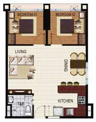 2 Bedroom Condo Floor Plan Solemare Parksuites Condominium Philippines
