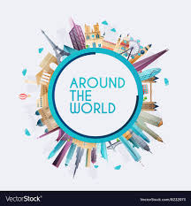 travel planet images Planet earth travel the world travel and tourism vector image jpg