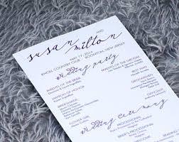 Flat Wedding Programs Monogram Wedding Ceremony Program Modern Programs Black And