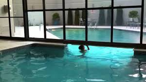 swimming in the indoor outdoor pool youtube