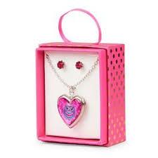 children s lockets lollipop rainbow beaded necklace and bracelet set multi