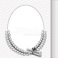 graduation frame oval graduation frame with diploma stock photos freeimages