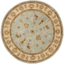 light blue round area rug safavieh heritage light blue beige 6 ft x 6 ft round area rug