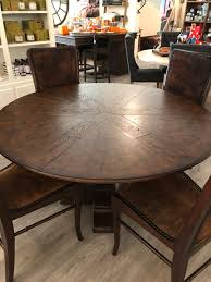 round dining room tables with self storing leaves summer leaves traditions unlimited 814 456 5516