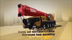 sany all terrain cranes specifications and benefits youtube