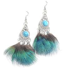 wholesale feather earrings peacock buy best feather