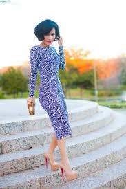 dress blue print dress shoes midi elegant bodycon sleeves