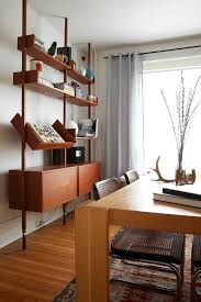 Mid Century Modern Bookcase Mid Century Modern Bookcase Dining Room Midcentury With Built In