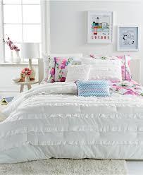 White Ruffled Comforter Bedroom Enchanting White Ruffle Comforter For Bedroom Decoration