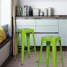 decorating interesting backless counter stools for modern kitchen
