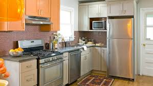 Kitchen Wooden Kitchen Cabinet Refacing Plus White Frige And