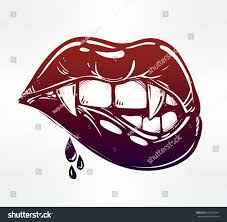 lips tattoo design vampire biting lips pop art stock vector 435916267 shutterstock
