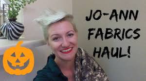 Joann Halloween Fabric by Jo Ann Fabrics Halloween Haul Youtube