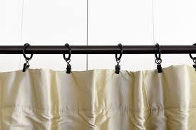 how to hang curtain rods with clip rings savae org