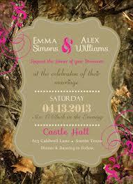 Camouflage Wedding Invitations Mossy Oak Wedding Invitations Casadebormela Com