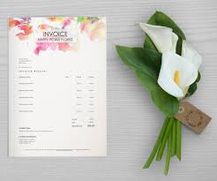 Florist Invoice Template by Invoice Pretty Pastel Pattern Fully Editable Word Document