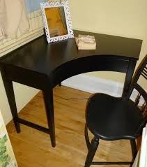 Black Corner Desk With Drawers Appealing Black Desk At Neutral Corner Design Ideas With Sweet