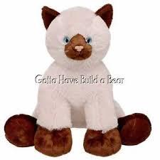 build a unstuffed build a 16 siamese cat unstuffed plush animal nwt ebay