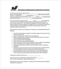 simple contract for services template free agreement template for