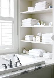 White Bathroom Shelves - bathtub shelves shelves ideas