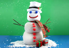 how to create holiday snowmen out of socks 14 steps