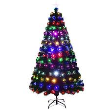 christmas tree with colored lights 6ft 7ft fiber optic christmas tree multicolor lights xmas decoration