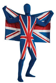 Skin Suit Halloween Costume Union Jack Skin Suit Stag Party Costumes Mega Fancy Dress